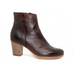 bottine femme manas en cuir brown