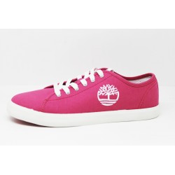 timberland basket femme newport bay oxford bright pink canvas