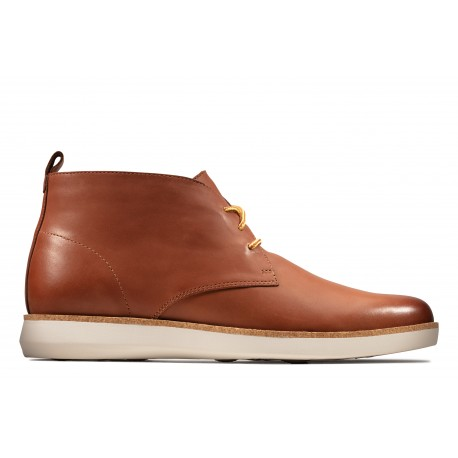 clarks homme fairford mid tan cuir marron