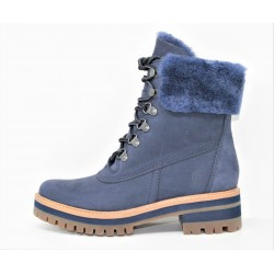 timberland femme boot courmayeur valley 6in sherling navy nubuck
