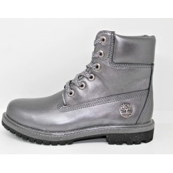 timberland femme boot premium waterproof dark grey metallic