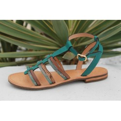 geox sandale femme Dsozy turquoise/brown