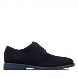 clarks homme atticus lace navy suede