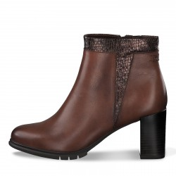 tamaris femme bottine talon en marron